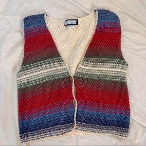 Vintage Runway brand Hippie Sweater Vest